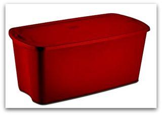 Red sterilite tote