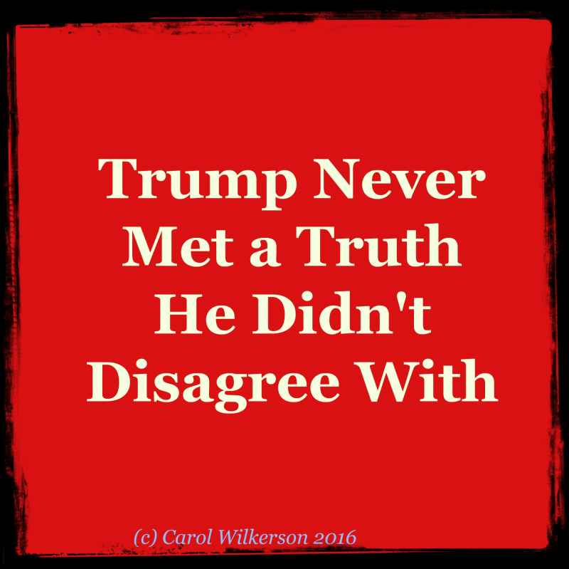 2Trump Truth Disagree