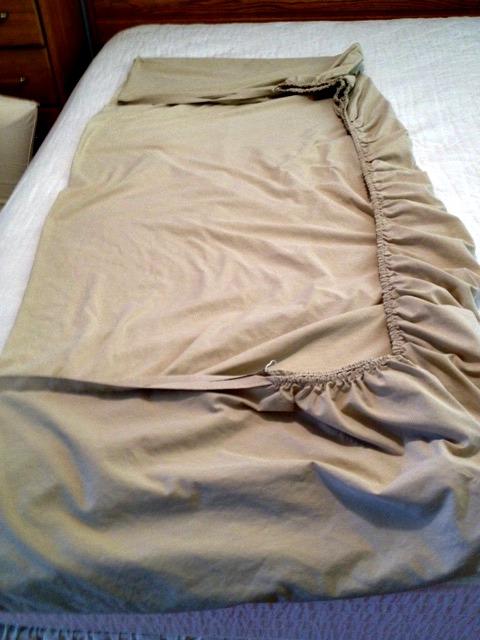 First sheet fold
