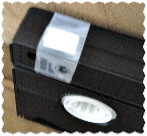 VCR tape tab covered